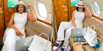Alleged husband snatcher, Chika Ike makes haters green with envy as she flaunts 'boss moves'